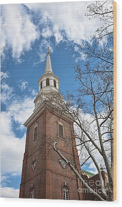 Christ Church Steeple Wood Print by Kay Pickens