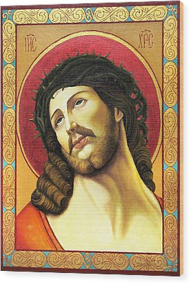 Christ Crowned With Thorns Wood Print by Oksana Nabok