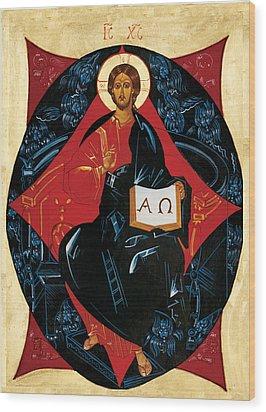 Christ In Majesty Wood Print by Joseph Malham