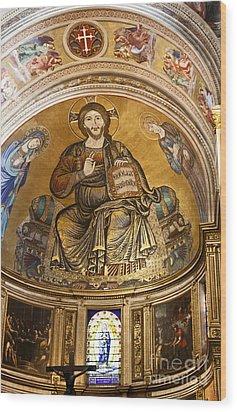 Christ In Majesty  Pisa Duomo Wood Print by Liz Leyden