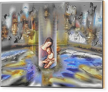 Christ Is Born 2009 Wood Print