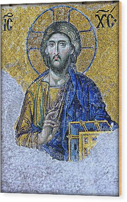 Christ Pantocrator II Wood Print by Stephen Stookey