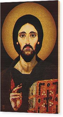 Christ Pantocrator Wood Print by Li   van Saathoff