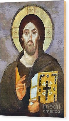 Christ Pantocrator Of Sinai Wood Print by Dragica  Micki Fortuna