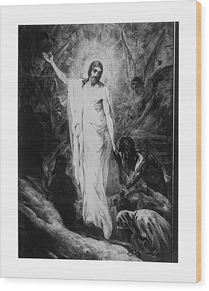 Christ Preaching To The Spirits In Prison C. 1910 Wood Print by Daniel Hagerman