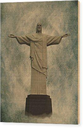 Christ The Redeemer Brazil Wood Print