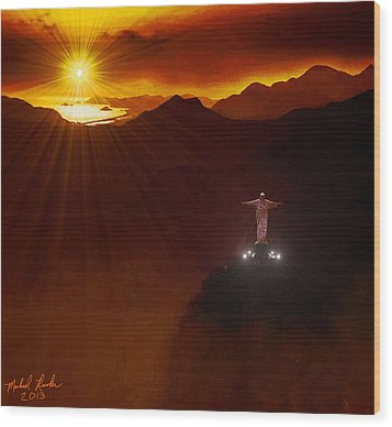 Christ The Redeemer Wood Print by Michael Rucker