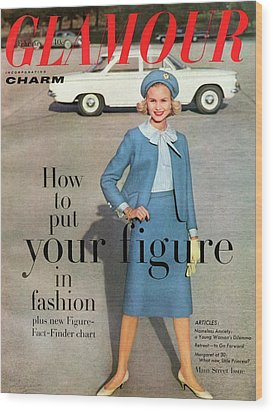 Christa Vogel On The Cover Of Glamour Wood Print by Frances Mclaughlin-Gill