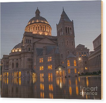 Wood Print featuring the photograph Christian Science Center 2 by Mike Ste Marie