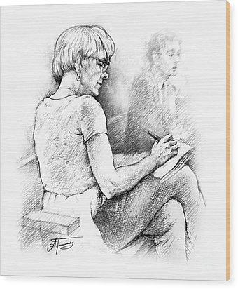 Christie Blatchford In Court Wood Print