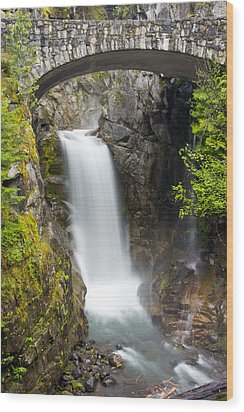 Christine Falls Wood Print by Bob Noble Photography