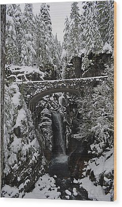 Christine Falls In The Winter Wood Print by Tikvah's Hope