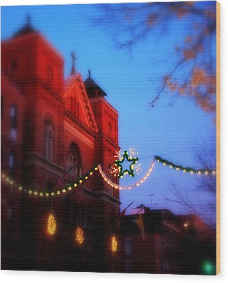 Wood Print featuring the photograph Christmas At Our Lady Of Mount Carmel  by Aurelio Zucco