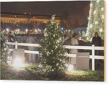 Christmas At The Ellipse - Washington Dc - 01132 Wood Print by DC Photographer