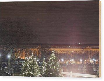 Christmas At The Ellipse - Washington Dc - 01134 Wood Print by DC Photographer