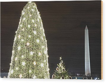 Christmas At The Ellipse - Washington Dc - 01137 Wood Print by DC Photographer