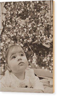 Christmas Baby Wood Print