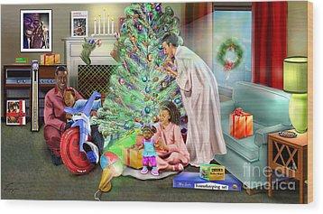 Christmas Back In Da Day Wood Print by Reggie Duffie