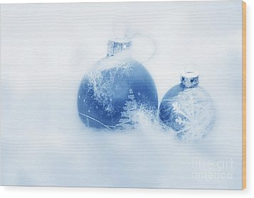 Christmas Balls Decoration Wood Print by Michal Bednarek