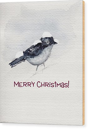 Wood Print featuring the painting Christmas Birds 02 by Anne Duke