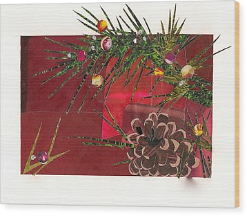 Christmas Branches Wood Print by Robin Birrell