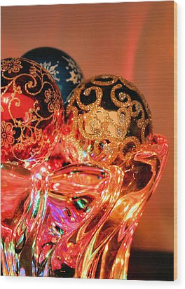 Christmas Bulbs Wood Print by Kristin Elmquist