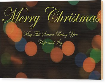 Christmas Card 1 Wood Print