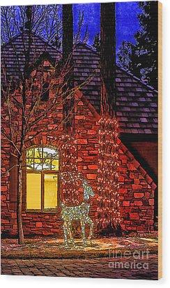 Christmas Card -2014 Wood Print by Nancy Marie Ricketts
