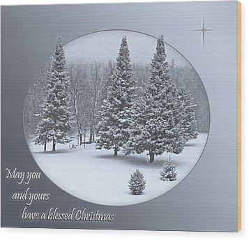 Christmas Card IIi Wood Print by Judy  Johnson