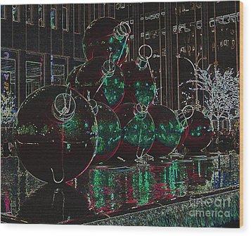Christmas Card Wood Print by Laurinda Bowling