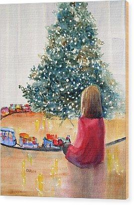 Christmas  Wood Print by Carlin Blahnik