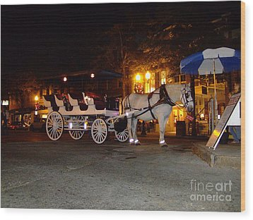 Wood Print featuring the photograph Christmas Carriage by Bob Sample