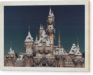 Christmas Castle Wood Print