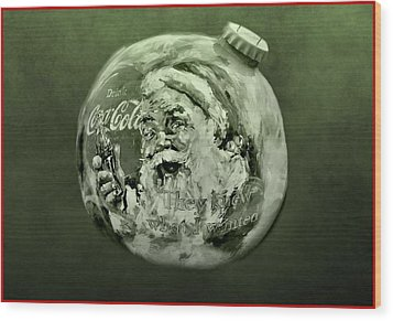 Christmas Coca Cola Wood Print by Dan Sproul