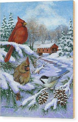 Christmas Creek Wood Print by Richard De Wolfe