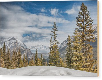 Christmas Day In Banff Wood Print