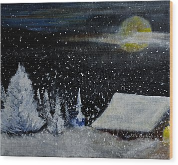 Christmas Eve Wood Print by Dick Bourgault