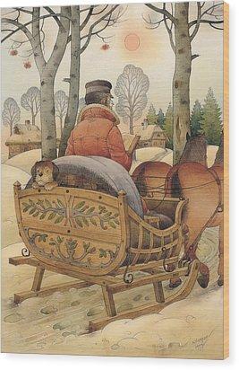 Christmas Eve Wood Print by Kestutis Kasparavicius