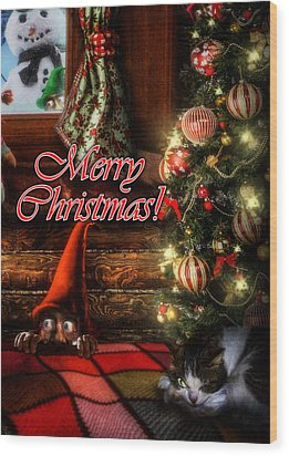 Christmas Greeting Card Viii Wood Print