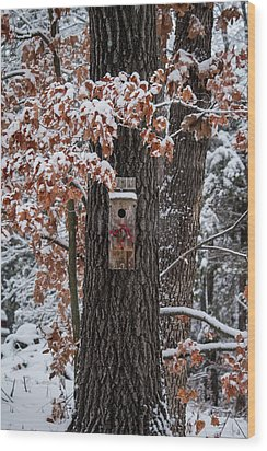 Wood Print featuring the photograph Christmas Greetings by Wayne Meyer