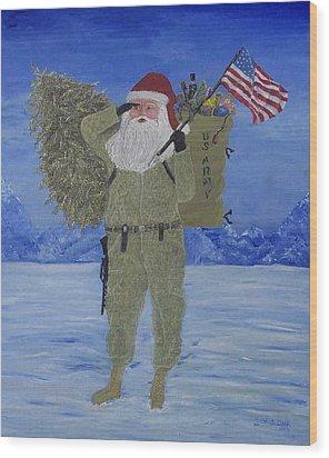 Christmas In Afghanistan  Wood Print