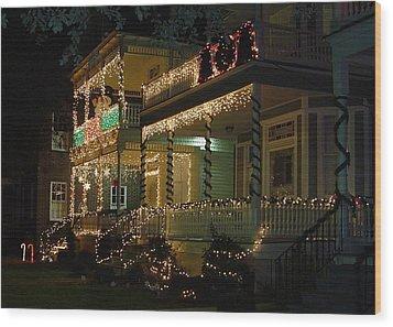 Christmas In Charleston Wood Print by Richard Marcus