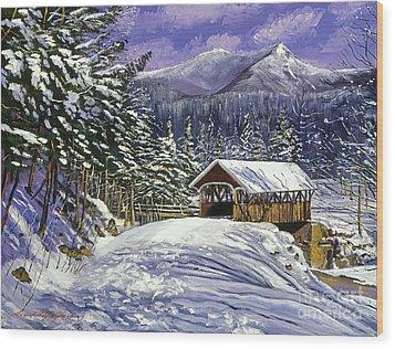Christmas In New England Wood Print by David Lloyd Glover