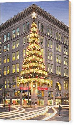 Christmas In Pittsburgh  Wood Print by Emmanuel Panagiotakis
