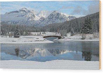 Christmas In The Rockies Wood Print by Ramona Johnston