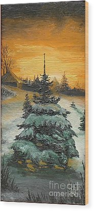 Christmas Is Coming Wood Print by Sorin Apostolescu