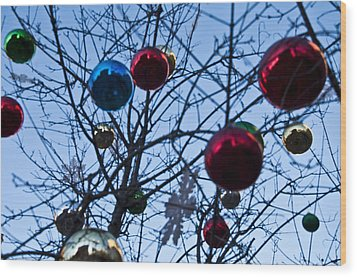 Christmas Is Looking Up This Year Wood Print by Bill Cannon