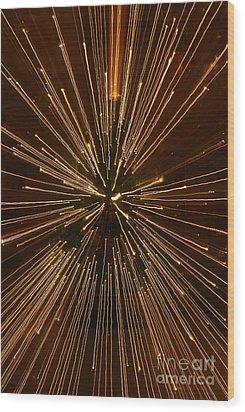 Christmas Lights Wood Print by Birgit Tyrrell