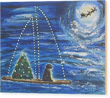 Wood Print featuring the painting Christmas Magic by Diane Pape
