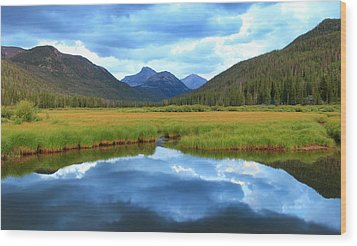 Christmas Meadows In The Uinta Mountains. Wood Print